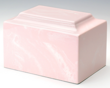 Load image into Gallery viewer, Classic Marble Pink Adult Funeral Cremation Urn, 325 Cubic Inches, TSA Approved