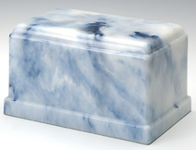 Load image into Gallery viewer, Olympus Onyx Sapphire Adult Funeral Cremation Urn, 275 Cubic Inches TSA Approved