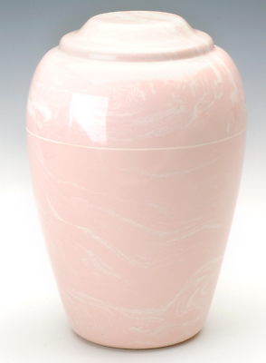 Grecian Marble Pink Adult Funeral Cremation Urn, 190 Cubic Inches, TSA Approved