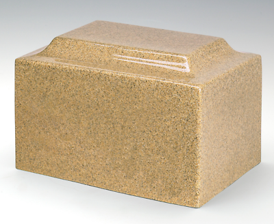 Classic Granite Gold 50 Cubic Inches Cremation Urn For Ashes, TSA Approved