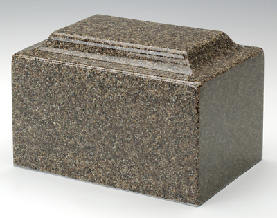 Keepsake Classic Brown Granite Cremation Urn, 25 Cubic Inches, TSA Approved