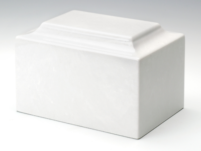 Oversize Classic Marble White Adult Cremation Urn, 325 Cubic Inches TSA Approved