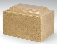 Load image into Gallery viewer, Classic Gold Granite Adult Funeral Cremation Urn, 210 Cubic Inches TSA Approved
