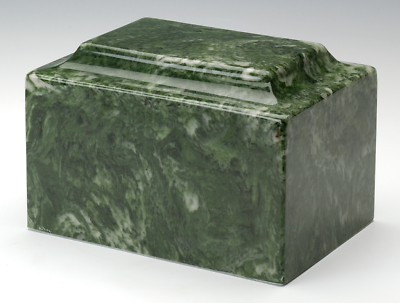 Marble Emerald Infant/Child/Pet Cremation Urn Ashes 50 Cubic Inches TSA Approved