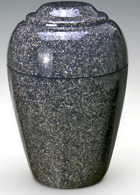 Grecian Brown Granite Adult Funeral Cremation Urn, 190 Cubic Inches TSA Approved