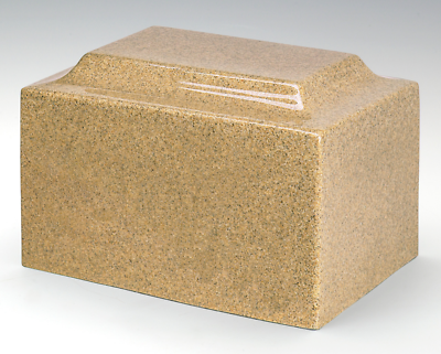 Classic Granite Gold 100 Cubic Inches Cremation Urn For Ashes, TSA Approved