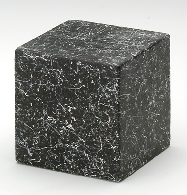 Small Cube Stone Tone Nocturne Keepsake Cremation Urn, 18 Cubic In. TSA Approved