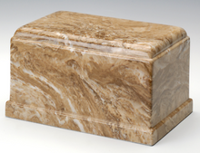 Load image into Gallery viewer, Olympus Cultured Marble Syrocco Adult Cremation Urn, 275 Cubic Inch TSA Approved