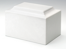 Load image into Gallery viewer, Angel Classic White Infant/Pet/Child Cremation Urn, 100 Cubic Inch, TSA Approved