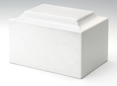 Angel Classic White Infant/Pet/Child Cremation Urn, 100 Cubic Inch, TSA Approved