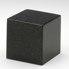 Load image into Gallery viewer, Small Cube Black Granite Keepsake Cremation Urn, 18  Cubic Inches, TSA Approved