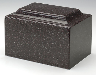 Classic Granite Dark Red 50 Cubic Inches Cremation Urn For Ashes, TSA Approved