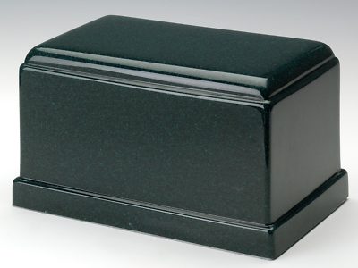 Olympus Sea Holly Green Granite Adult Cremation Urn, 275 Cubic Inch TSA Approved