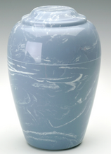 Load image into Gallery viewer, Grecian Marble Wedgewood Keepsake Funeral Cremation Urn 35 Cubic In. TSA Approve