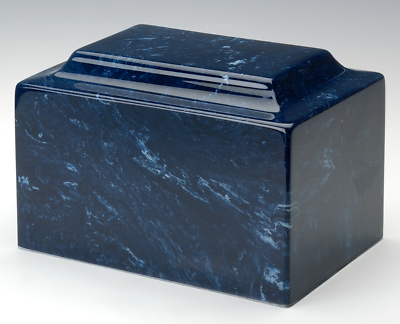 Classic Marble Navy Adult Funeral Cremation Urn, 325 Cubic Inches TSA Approved