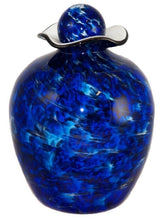 XL/Companion 400 Cubic Inch Rome Water Funeral Glass Cremation Urn for Ashes