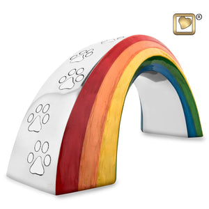Rainbow Bridge Small Pet Funeral Cremation Urn for Ashes, 40 Cubic Inches