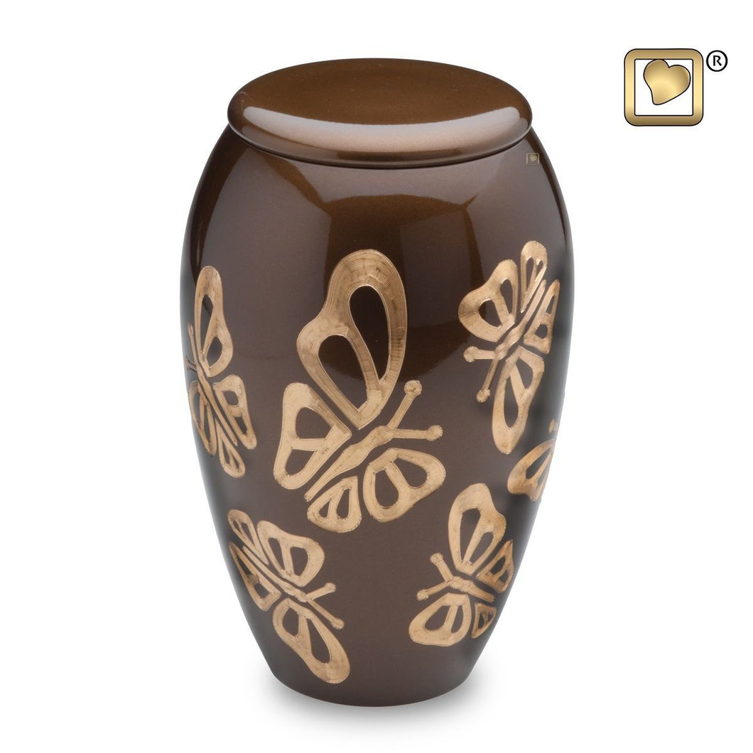 Majestic Butterfly Adult Funeral Cremation Urn, 225 Cubic Inches