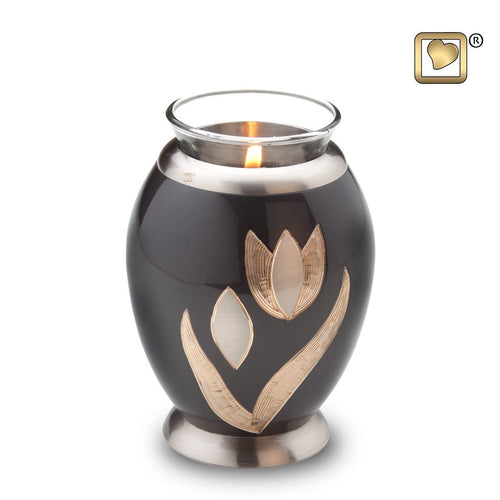 Majestic Tulips Infant/Child/Pet Tealight Funeral Cremation Urn, 20 Cubic Inches