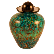 100 Cubic Inch Rome Aegean Funeral Glass Cremation Urn for Ashes