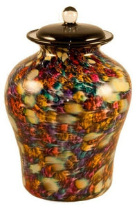 Large/Adult 220 Cubic Inch Palermo Desert Funeral Glass Cremation Urn for Ashes
