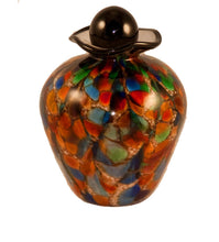 Load image into Gallery viewer, 100 Cubic Inch Rome Autumn Funeral Glass Cremation Urn for Ashes