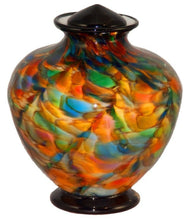 Load image into Gallery viewer, Large/Adult 220 Cubic Inch Milan Autumn Funeral Glass Cremation Urn for Ashes