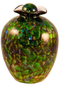 XL/Companion 400 Cubic Inch Rome Forest Funeral Glass Cremation Urn for Ashes