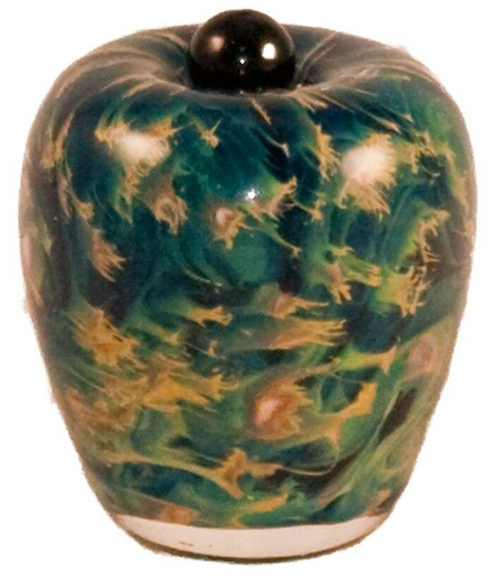 Small/Keepsake 3 Cubic In Florence Nuvole Glass Funeral Cremation Urn for Ashes