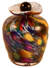 Small/Keepsake 3 Cubic Inch Rome Desert Funeral Glass Cremation Urn for Ashes
