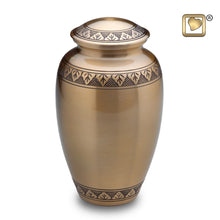 Gold Classic Adult Funeral Cremation Urn, 200 Cubic Inches