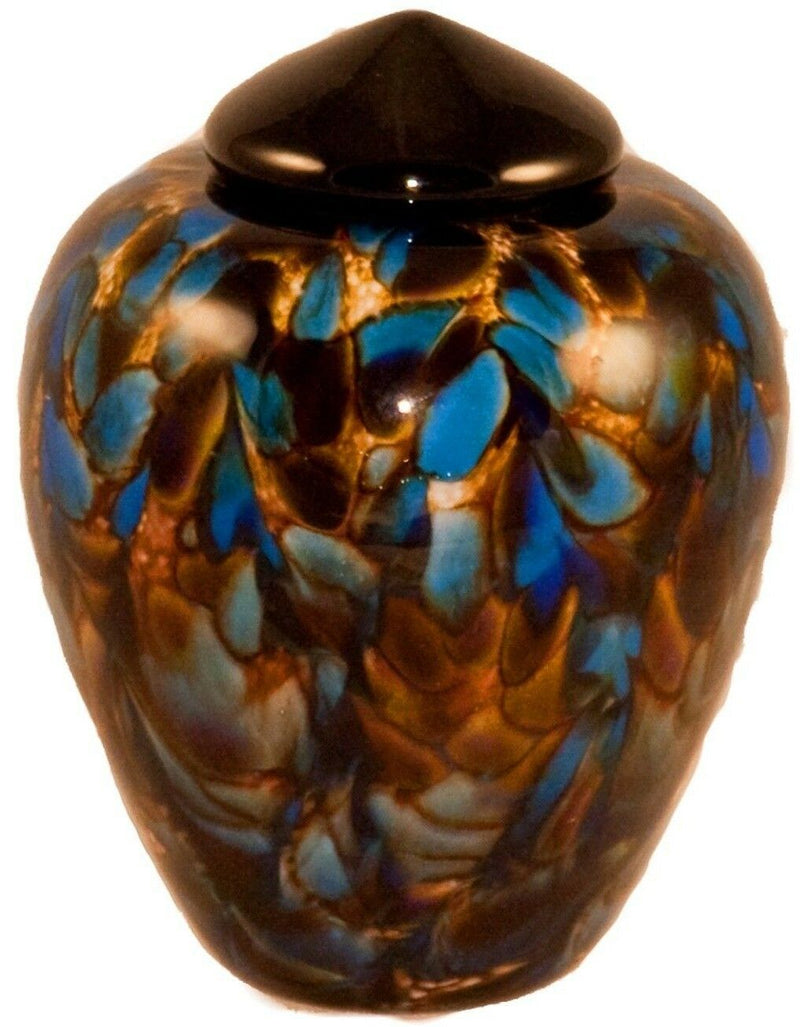 100 Cubic Inch Florence Evening Funeral Glass Cremation Urn for Ashes