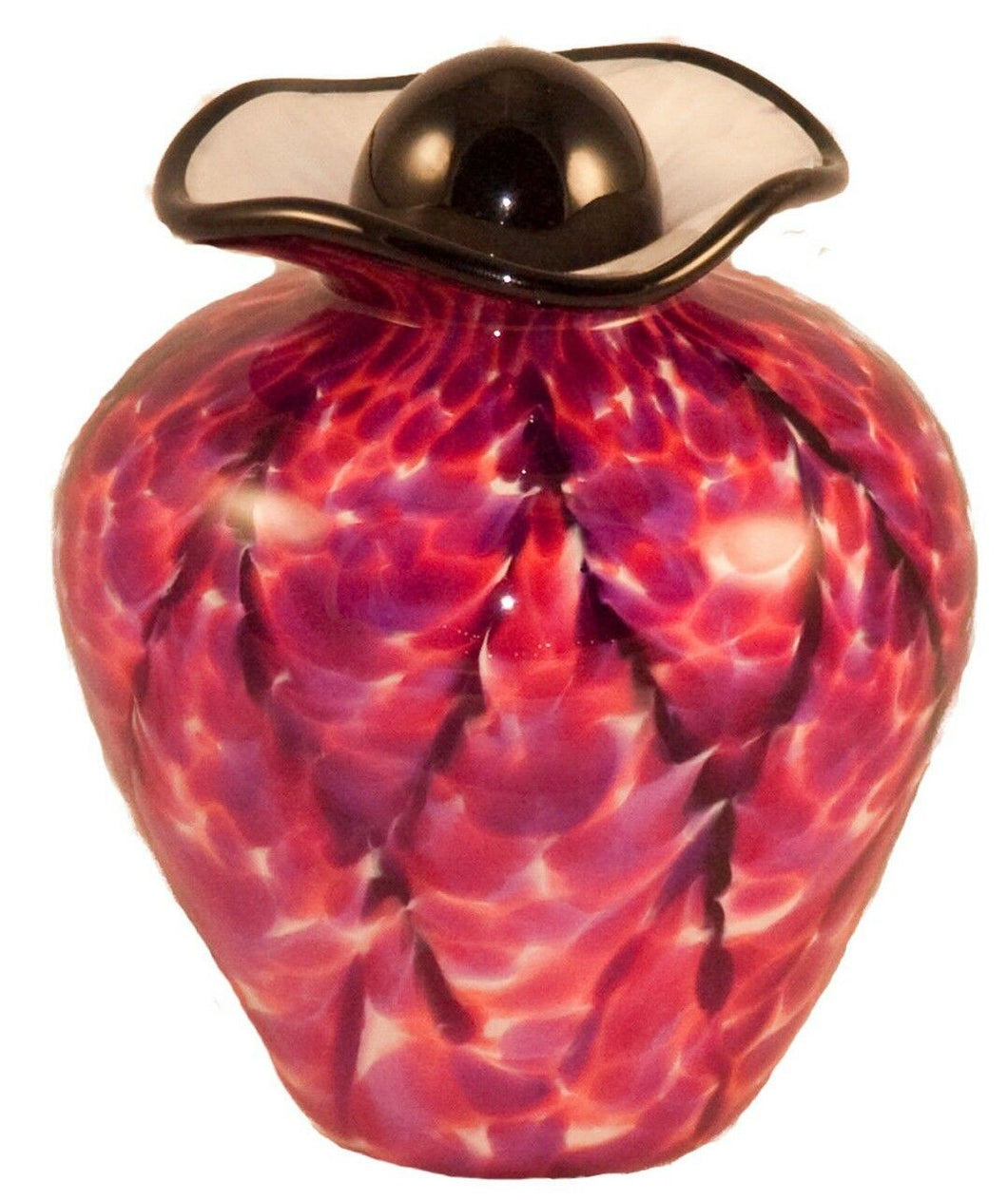 100 Cubic Inch Rome Rose Funeral Glass Cremation Urn for Ashes