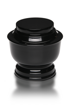 Load image into Gallery viewer, Large/Adult 200 Cubic Inch Black Simple Aluminum Funeral Cremation Urn for Ashes