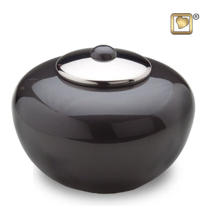 Simplicity Midnight Round Adult Funeral Cremation Urn, 110 Cubic Inches