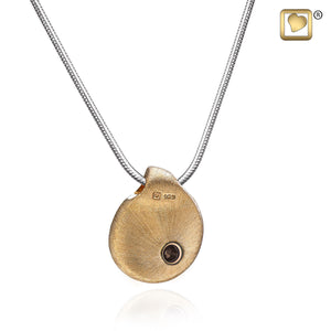 TearDrop Gold Vermeil 925 Silver 2-Tone Cremation Pendant Urn with chain