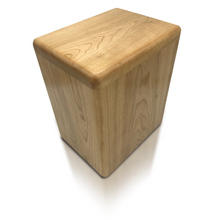 Load image into Gallery viewer, Large/Adult 280 Cubic Inch Solid Cherry with Bullnose Edge Funeral Cremation Urn