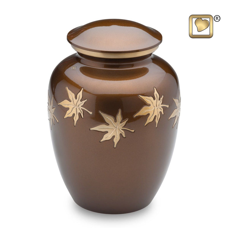 Autumn Leaves Adult Funeral Cremation Urn, 200 Cubic Inches