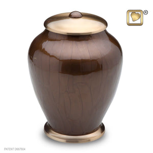 Simplicity Bronze Tall Adult Funeral Cremation Urn,  225 Cubic Inches