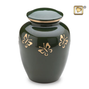 Butterfly Quest Adult Alloy Funeral Cremation Urn, 200 Cubic Inches