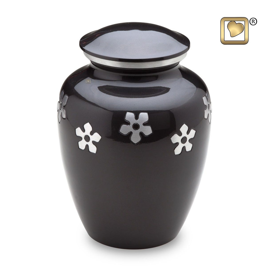 Forget- Me- Not Adult Alloy Funeral Cremation Urn, 200 Cubic Inches