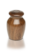 Load image into Gallery viewer, Small/Keepsakes Rosewood Vase with Black Bone Charm Pet Cremation Urn for Ashes
