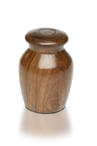 Small/Keepsakes Rosewood Vase with Black Bone Charm Pet Cremation Urn for Ashes