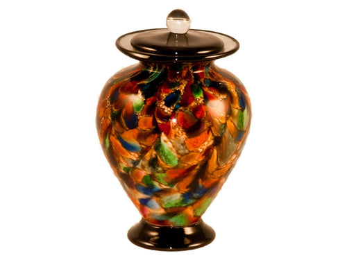100 Cubic Inch Venice Autumn Funeral Glass Cremation Urn for Ashes