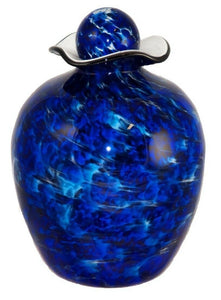 Large/Adult 220 Cubic Inch Rome Water Funeral Glass Cremation Urn for Ashes