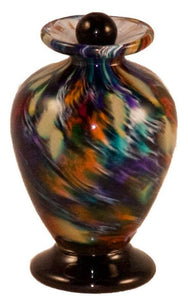 Small/Keepsake 3 Cubic Inch Venice Desert Funeral Glass Cremation Urn for Ashes