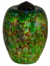 Load image into Gallery viewer, XL/Companion 400 Cubic In Florence Forest Funeral Glass Cremation Urn for Ashes