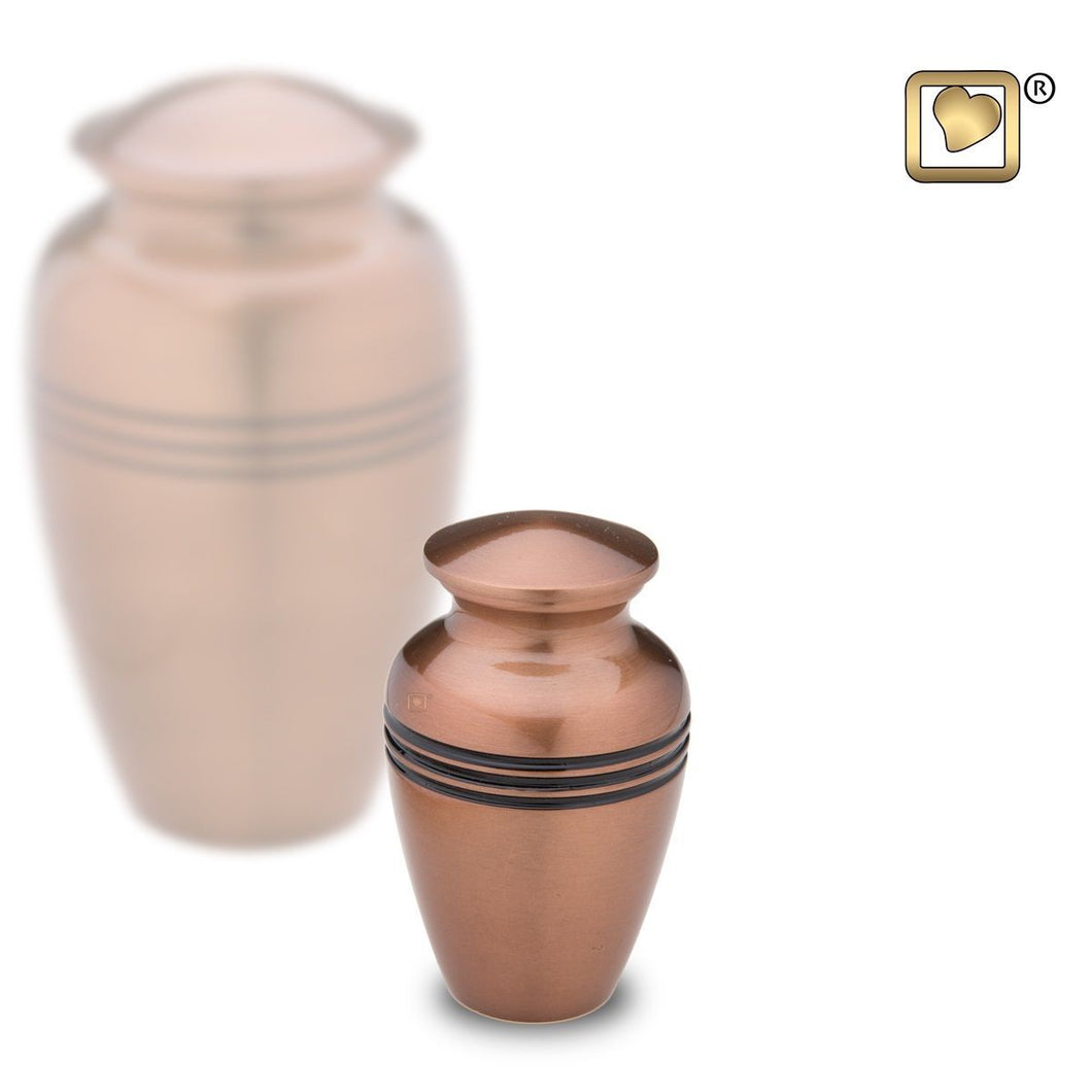 Copper Classic Radiance Keepsake Funeral Cremation Urn, 3 Cubic Inches