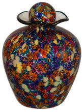 XL/Companion 400 Cubic Inch Rome Desert Funeral Glass Cremation Urn for Ashes