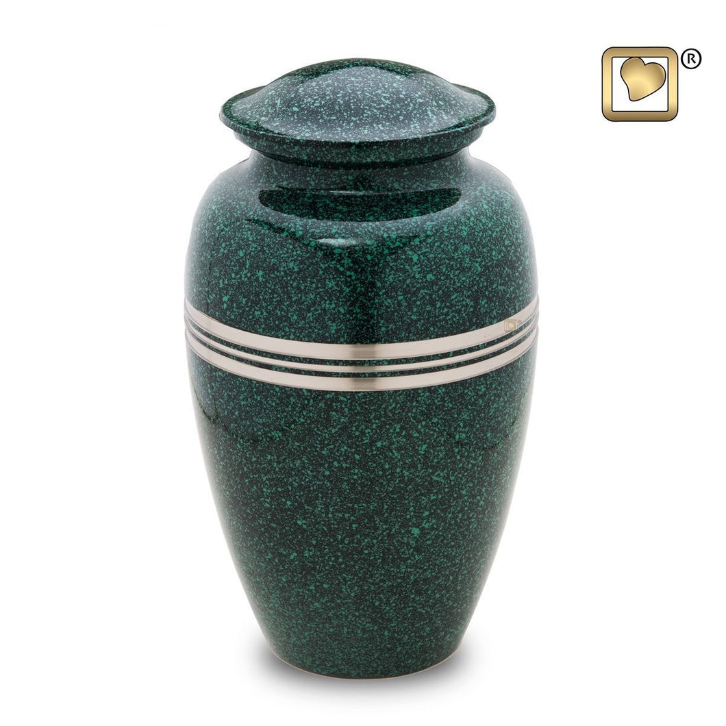 Emerald Classic Speckled Adult Funeral Cremation Urn, 200 Cubic Inches